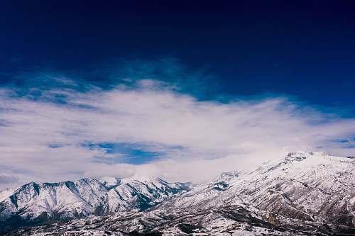nature mountain at winter season outdoors