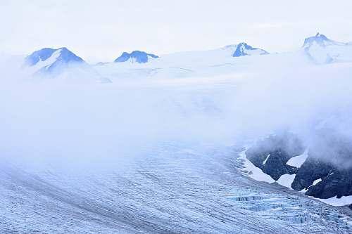 snow ocean waves photography glacier