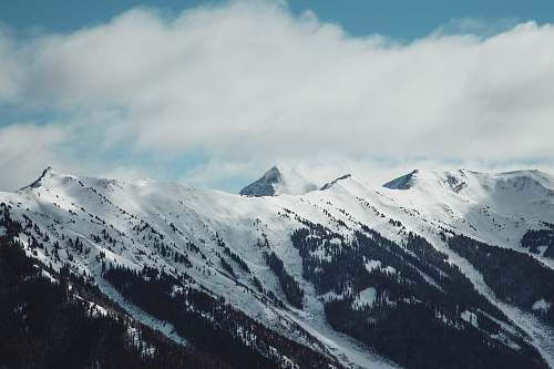 nature view of snowy mountain outdoors