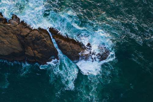 outdoors aerial photography body of water ocean