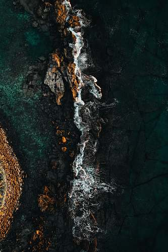 wallpaper aerial photography of body of water during daytime art
