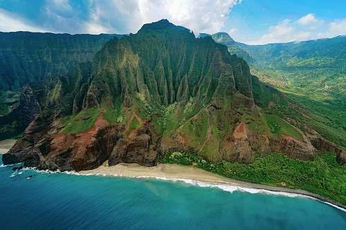 sea aerial photography of mountain range hawaii