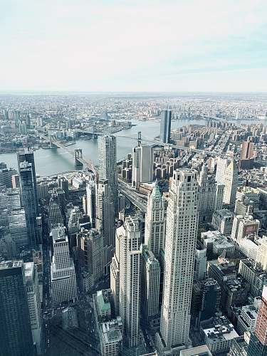 outdoors aerial view of city buildings during daytime landscape