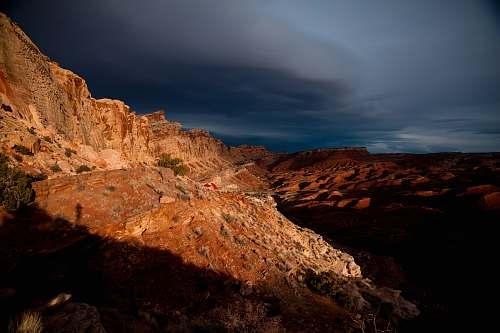 canyon brown mountains valley
