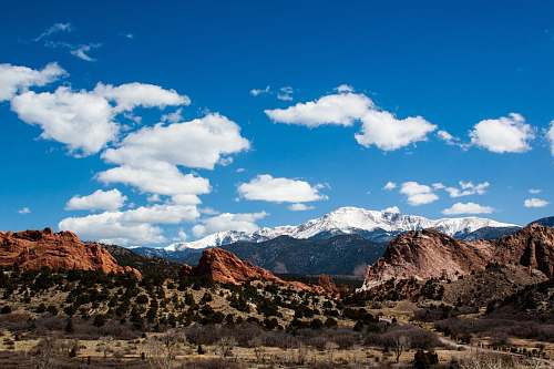 cloud brown mountains under cloudy sky at daytime desert