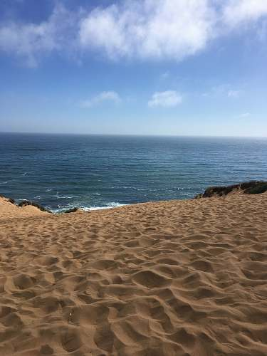 outdoors brown sand beach during daytime soil