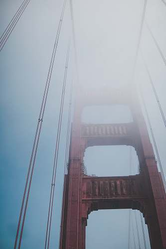 outdoors low-angle photography of Golden Gate Bridge during daytime grey