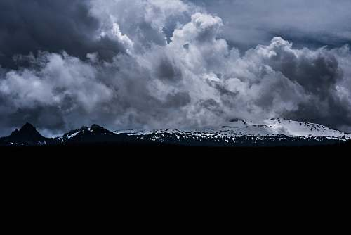 weather silhouette of mountain cloud