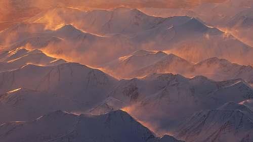 mountain top view of mountain grey