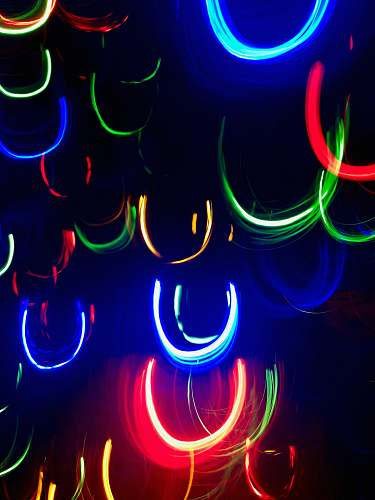 light multicolored LED lights hanging during nighttime 309 n clinton ave