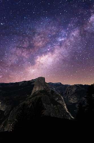 space starry night galaxy