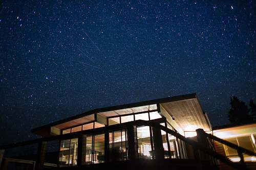 building time lapse photography of star light