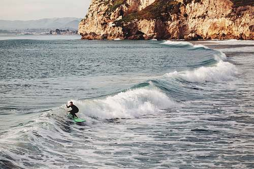 water man surfing on sea wave during daytime nature