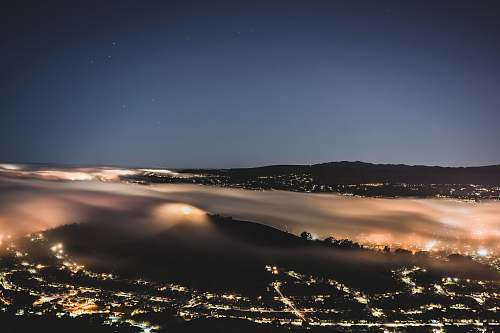 san bruno mountain state park aerial shot of city lights during nighttime brisbane