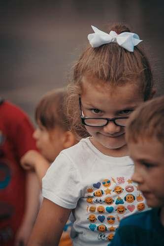 human girl wearing eyeglasses accessories