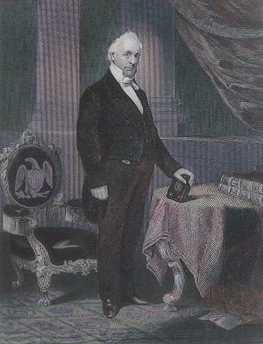 human President James Buchanan grey