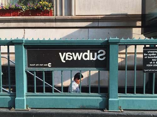human Subway signage people