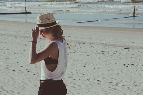 people woman standing on beach sand human