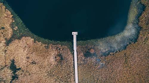 holly aerial photography of dock at lake united states