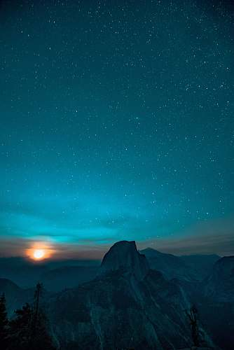 night gray mountain in landscape photography space