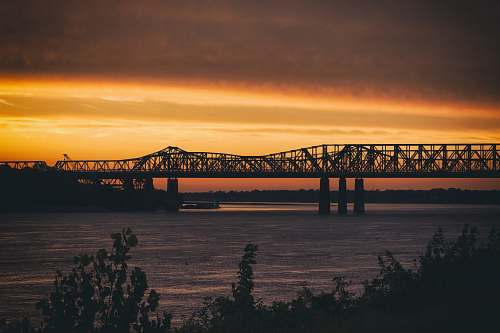 bridge landscape photography of bridge during sunset memphis