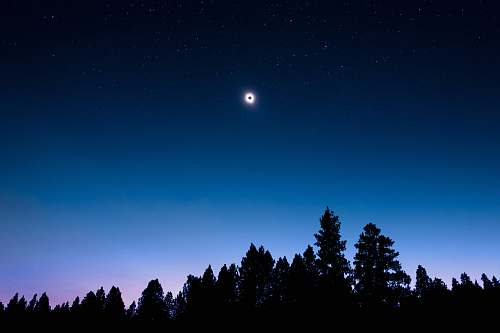 blue lunar eclipse view during night time ochoco national forest