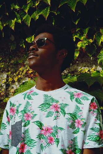 accessories man wearing white floral shirt accessory