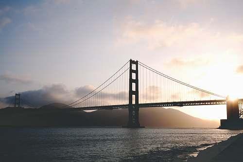 bridge concrete bridge during golden hour dusk