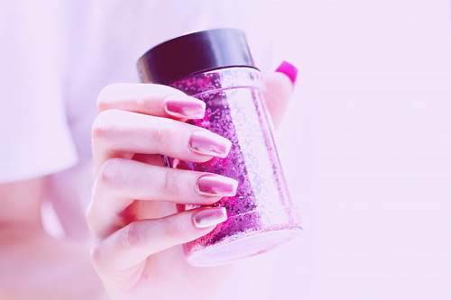 nail person holding pink container ogden
