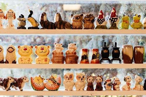 advertisement assorted-color animal figurine lot collage