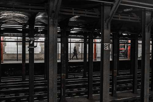 transportation person walking on train station new york