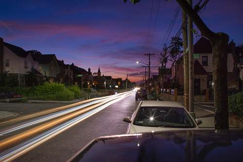 car vehicles on road during nighttime road