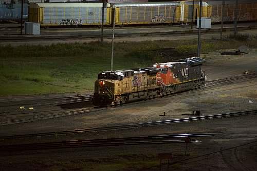 train yellow train vehicle