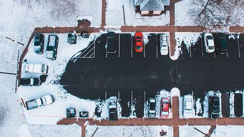 vehicle aerial photography of park cars millville