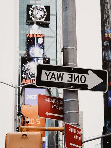 new york one way signage theater district