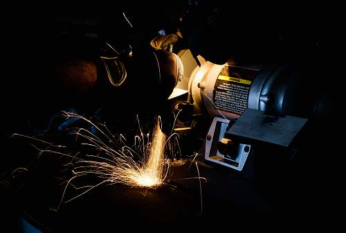 photo ohio person using bench grinder night free for commercial use images
