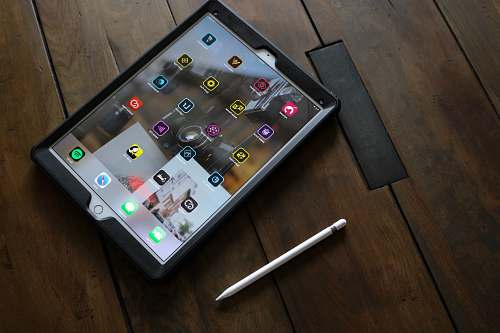 missoula silver iPad with stylus tablet