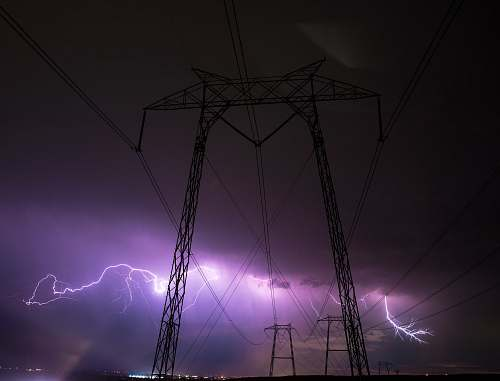 photo tracy transmission tower and lightnings transmission tower free for commercial use images