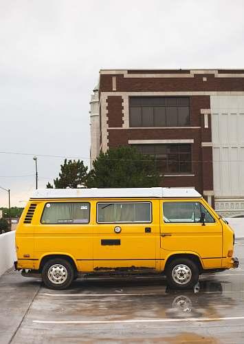 transportation yellow van van