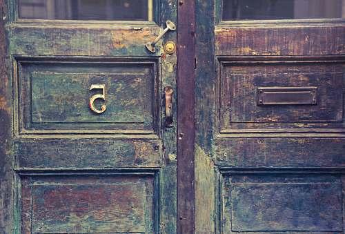 entrance brown wooden door door