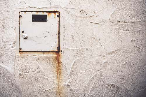 rust white metal wall cabinet san luis obispo