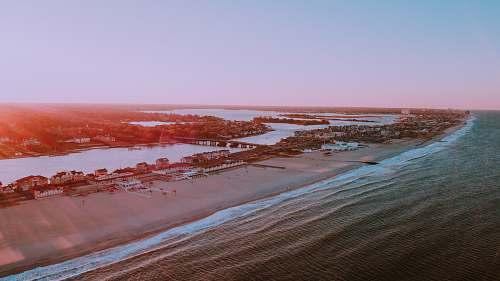 beach aerial photography of beach coast