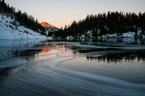 united states frosted lake during daytime twin lakes
