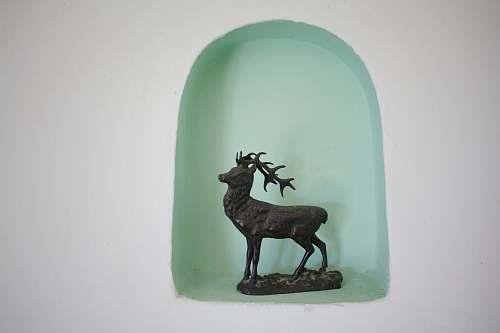 mammal black deer figurine antelope