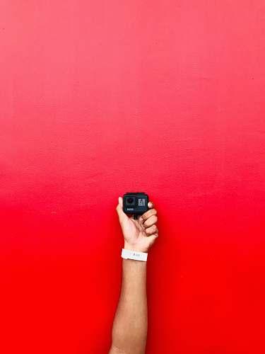 wrist black action camera camera