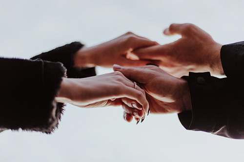human view photography of person hands while holding person