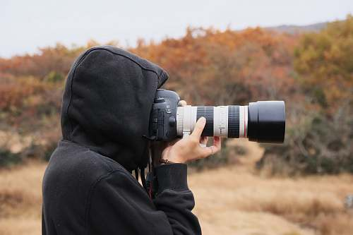 person person holding camera people