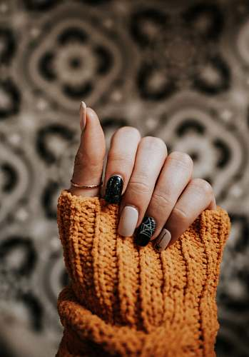 person person with nail art manicure