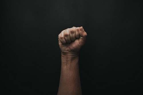 hand left human fist fist