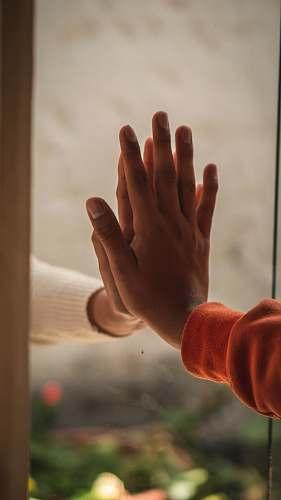 human left human hand hand
